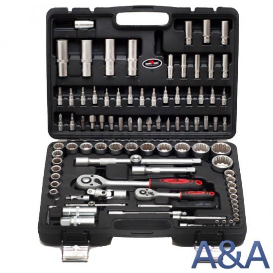 Сервис ключ набор инструментов 94 предмета головки 12 граней