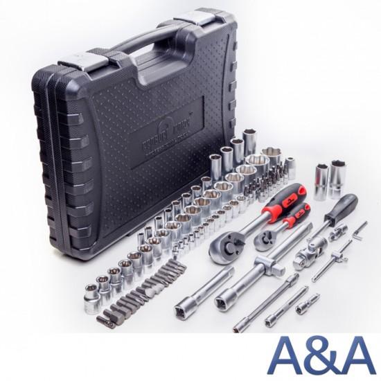 Сервис ключ набор инструмента 94 предмета головки 6 граней