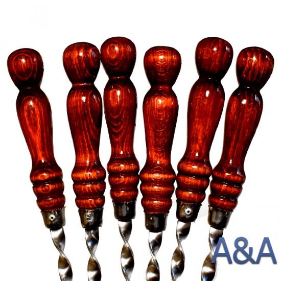 Шампура с деревянной ручкой  - 6 шт 50х1